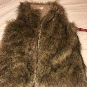 Womens Faux Fur Vest